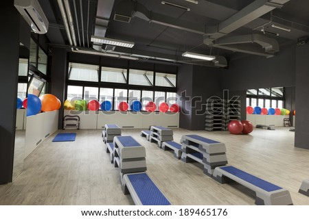 Gym interior - room for aerobics
