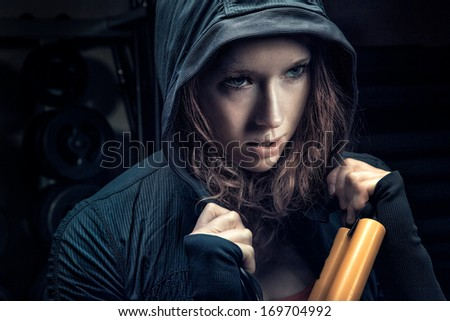 Gym junkie - stock photo