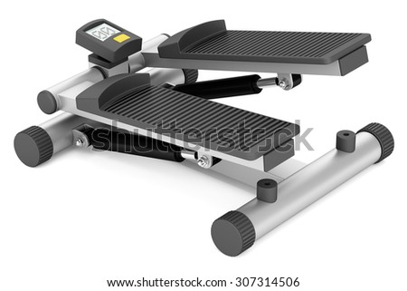 gym stepper isolated on white background - stock photo