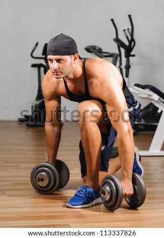 Gym training workout - stock photo