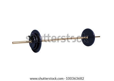 Gym weight isolated on white - stock photo