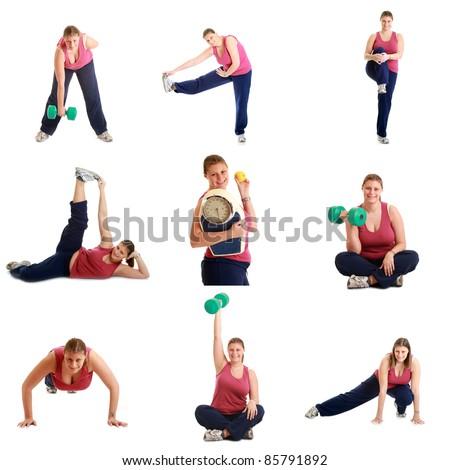gymnastic exercise - stock photo