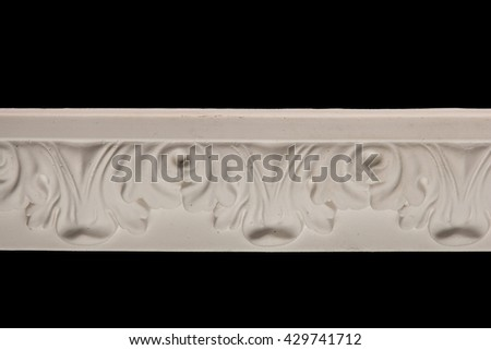 Gypsum cornice, moldings, baseboards, friezes