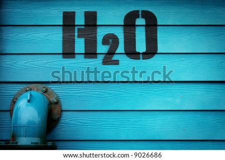 h20 - stock photo