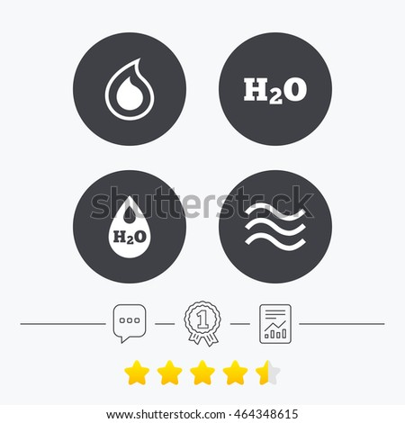 H 2 O Water Drop Icons Tear Oil Stock Illustration 464348615