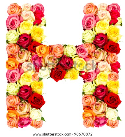S Alphabet In Flowers Alphabet Flower H Stock Photos, Images, & Pictures | Shutterstock