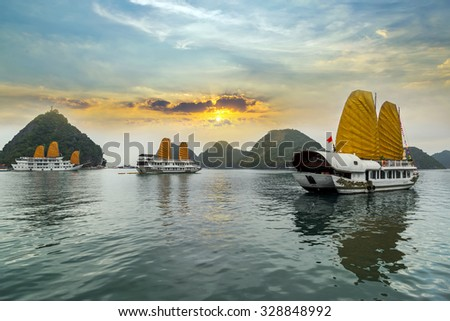 Ha Long Bay, Vietnam. Unesco World Most popular place.