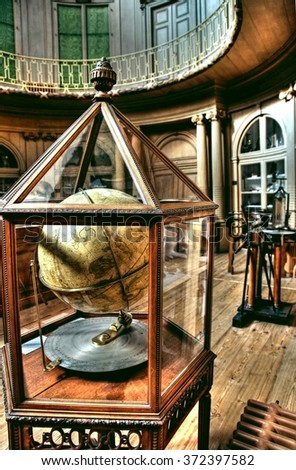 HAARLEM, NETHERLANDS - 30 september 2015 ; The famous Teylers museum in Haarlem is the only museum in the world that has a authentic building and interior from the 18e century  - stock photo