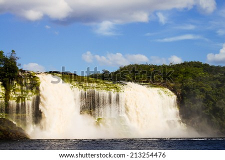 Hacha Waterfall - Venezuela - stock photo