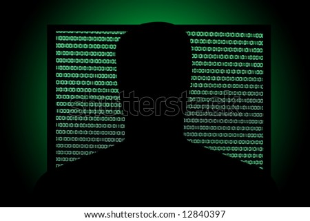 Hack in front of Binary Code in Screen - stock photo