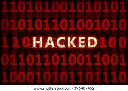 Hacked code , for internet,protection,security themes - stock photo
