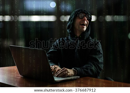 Hacker in front of his computer