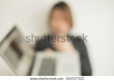 Hacker Stealing Data From Laptop - stock photo