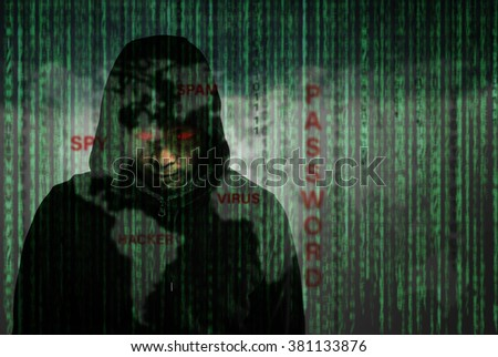 Hackers programmer using computer laptop for hack information and data from user account. - stock photo