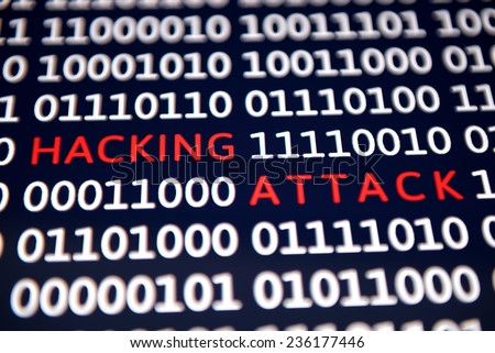 Hacking attack - Cyber crime - stock photo