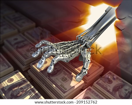 Hacking bank vault. Conceptual finance 3d illustration - stock photo