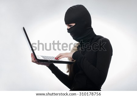 hacking,, burglary, theft - stock photo