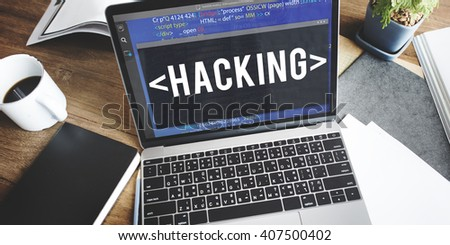 Hacking Hacking Coding Criminal Cyber Concept - stock photo