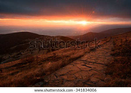 Hadji Dimitar Peak, near Buzludja, Bulgaria - stock photo