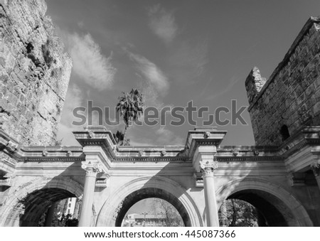 Hadrian's Gate in Antalya. Asia Minor