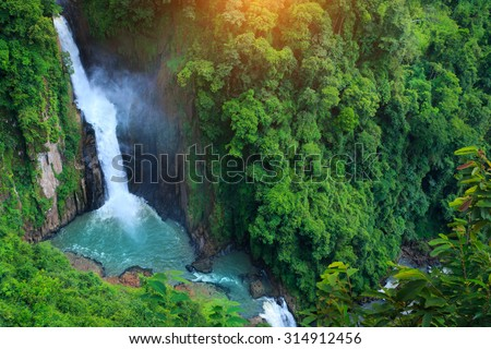 Haew Narok Waterfall in Khao Yai National Park, Thailand