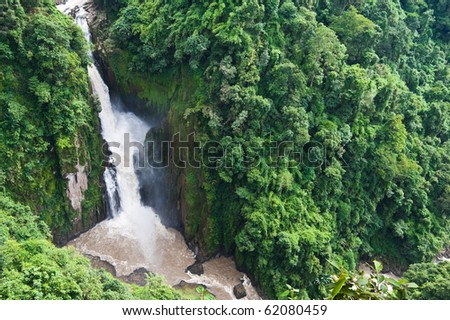 Haew Narok Waterfall in Khao Yai National park , Thailand