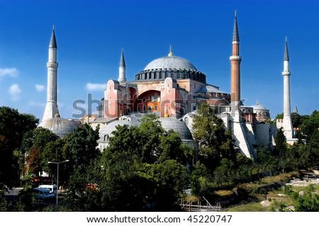 Hagia Sofia church in Istanbul, Constantinople, Turkey - stock photo