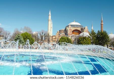 Hagia sofia in istanbul Turkey - stock photo