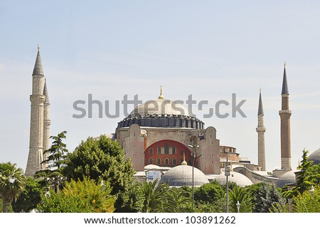 Hagia Sophia is a former Orthodox patriarchal basilica, later a mosque, and now a museum in Istanbul, Turkey