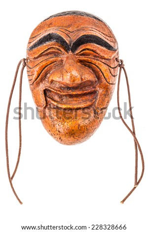 Hahoe masks (Hahoetal) have been used in Hahoe Tal Chum (Hahoe Mask Dance Drama), one of Korea's most traditional folk plays - stock photo
