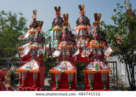 HAI DUONG, Vietnam, September 15, 2016 objects, the paper's image. worship, in the historic Con Son, Kiep Bac, Hai Duong Province, Vietnam