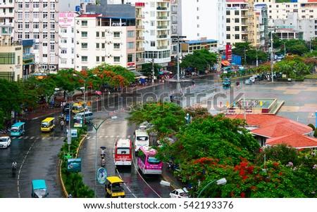 HAI PHONG, VIETNAM, June 19, 2016 the town, Cat Ba Bay, the coastal city of Hai Phong, Vietnam