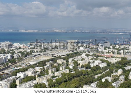 Haifa, view of the center of the city