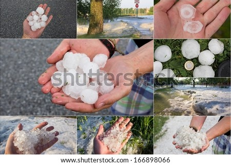 hail - stock photo