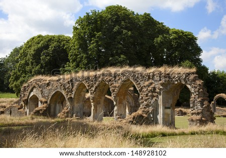 Hailes Abbey, Gloucestershire, England - stock photo