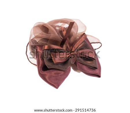 Hair bow isolated on white background