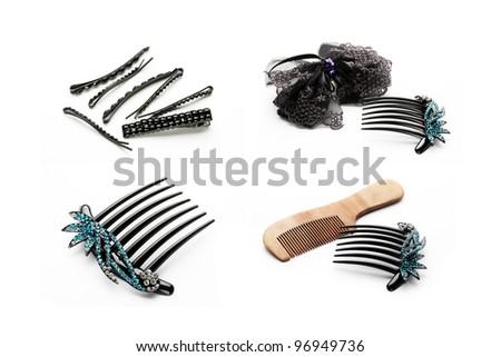 Hair Clip on white background - stock photo