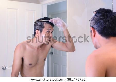 Hair Coloring Gray Hair Man Make Stock Photo 381798952 - Shutterstock