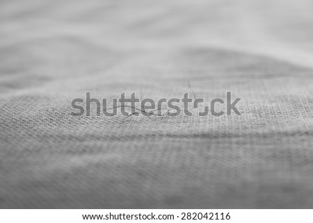 Hair fall on bed. - stock photo