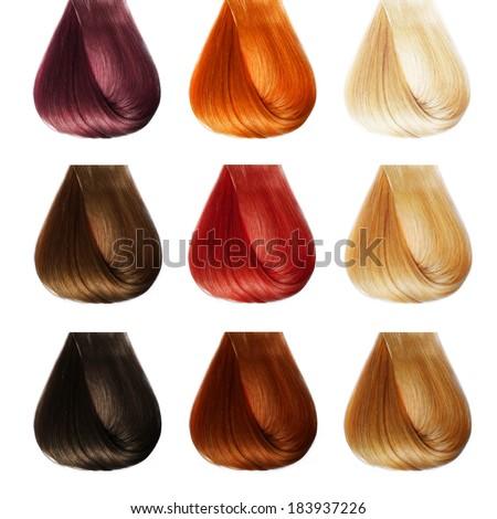Hair Palette. Colors Set. Tints - stock photo