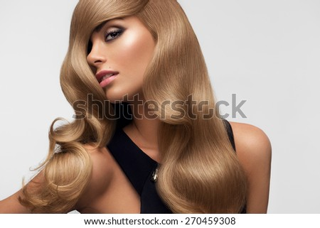 Hair portrait beautiful blonde long wavy stock photo 270459308 hair portrait of beautiful blonde with long wavy hair high quality image urmus Images
