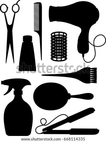 hair salon silhouette clip art stock illustration 668114335 rh shutterstock com hair salon clipart hair salon clipart png