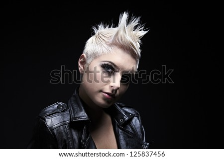 Hair Styled Model - stock photo