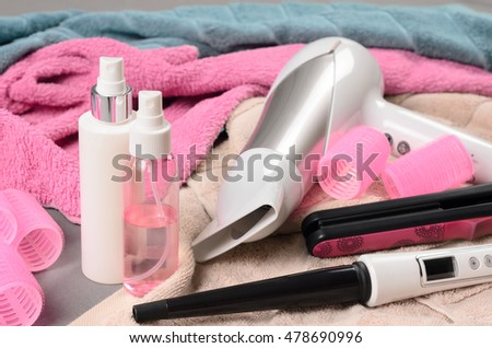 curling wand stock images, royalty-free images & vectors, Hause deko