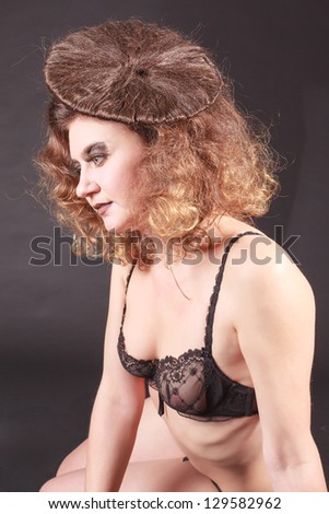 Hair Visions in lingerie / the visionary - stock photo