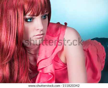 haircolors close up - stock photo