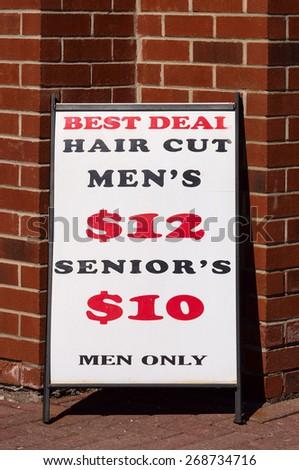 Haircut Sign - stock photo