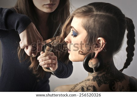 Hairdresser  - stock photo