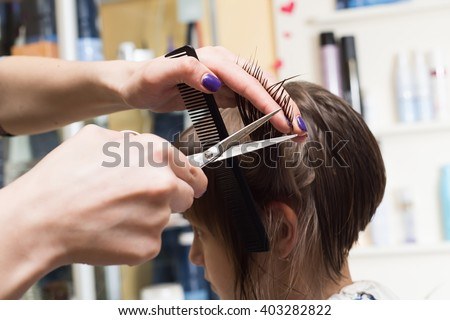 hairdresser shears girl