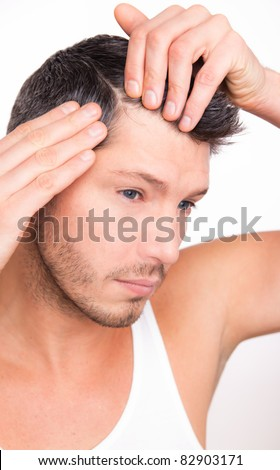 hairloss - stock photo
